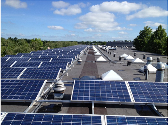 Picture 5 – PV  installation at  Stengards school
