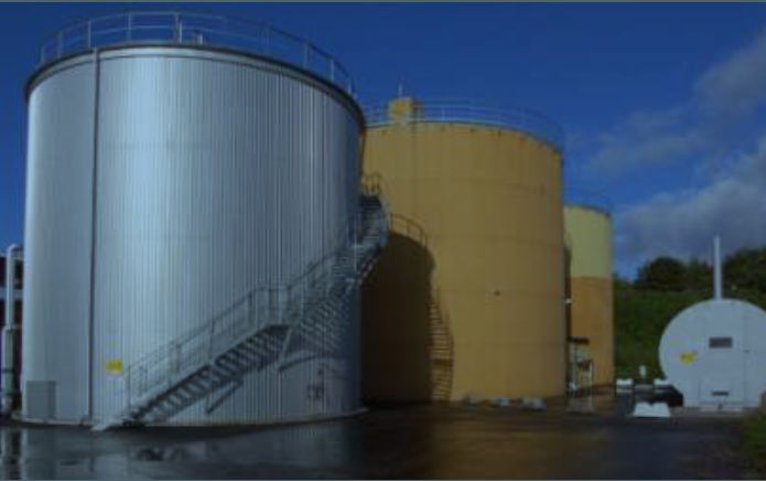Picture 5 – View of the  biogas plant at  Helsingborg