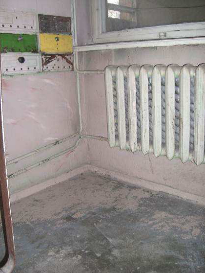 One of the  old radiators to be replaced  during the project