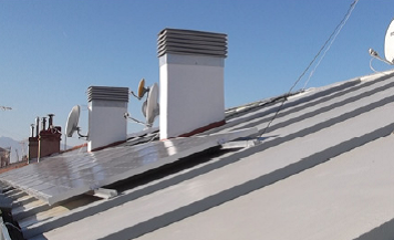 Picture 10 – PV Modules  on the roof of the  retrofitted building