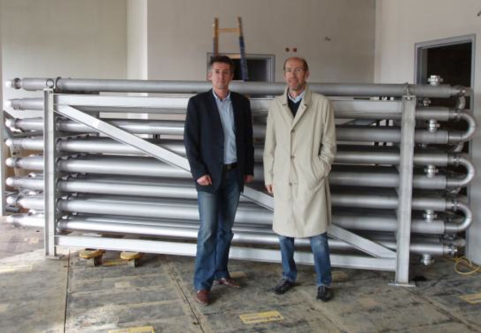 Picture 5 -  Large-scaled  heat exchanger for  heat recovery from  wastewater