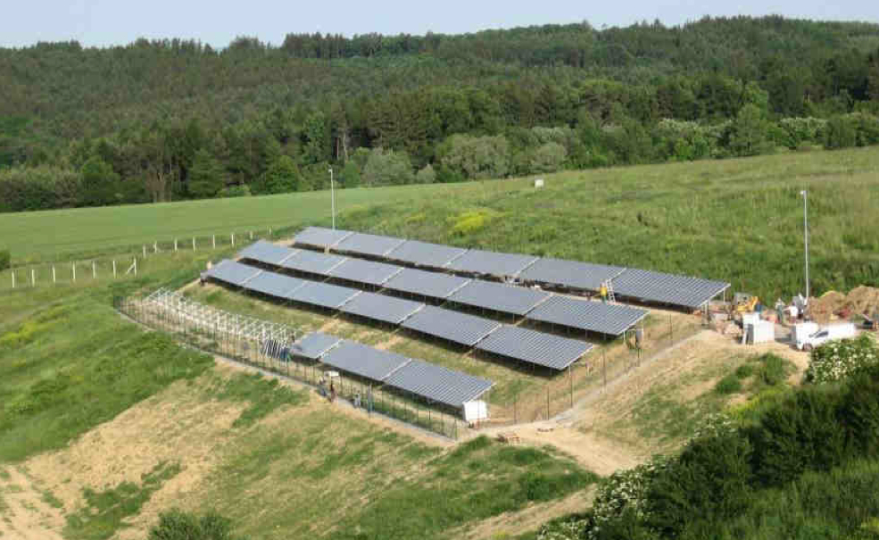 Picture 2 -  Large-scale PV  at waste depot in Zlin