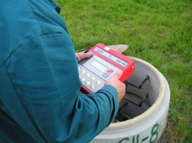 Picture 4 -  Monitoring  the parameters of  landfill gas