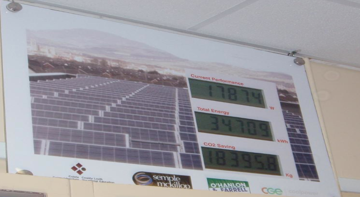 Picture 5 – Display  showing the current  performance of the  PV system