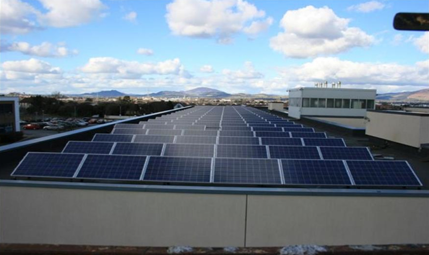 Picture 4 – View of  the PV panels on  the roof