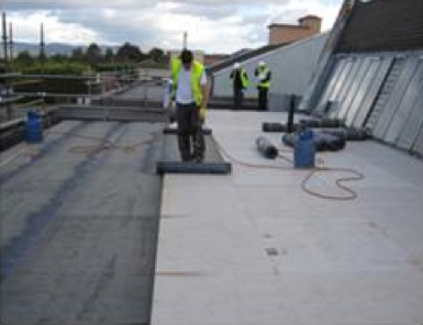 Picture 1 - Retrofitting the roof of a public  building
