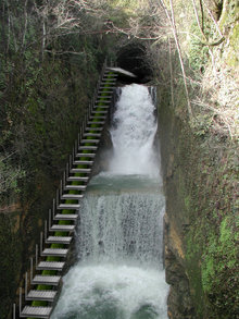 """Picture 1 - Using hydro power at the """"Seyon"""" river"""