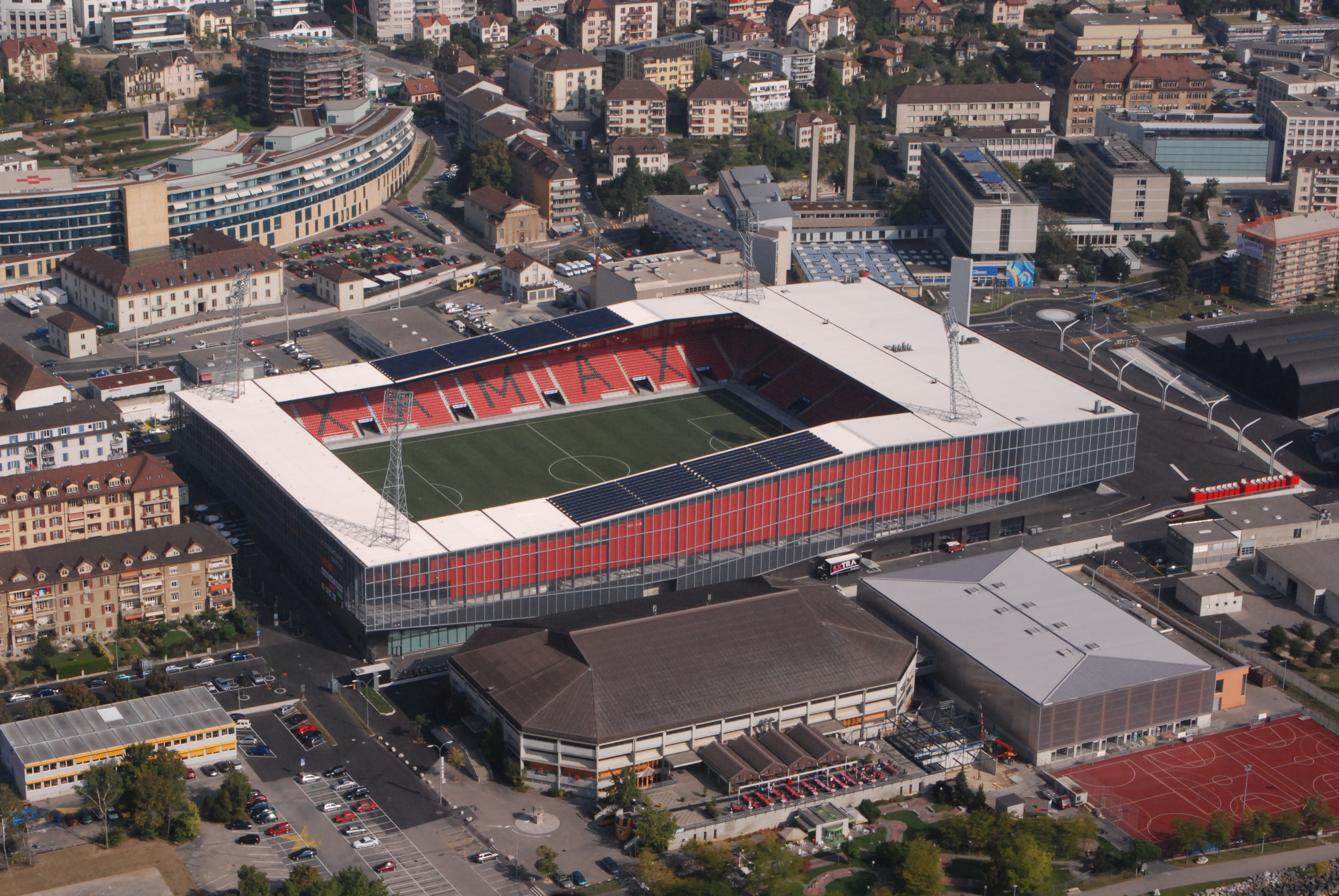 Picture 2 – Photovoltaics  on the roof of the stadium