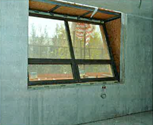 Picture 4 – A tilted window  from inside
