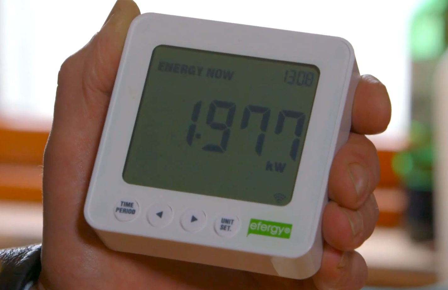 Picture 3 – User  information display of the  energy management  system