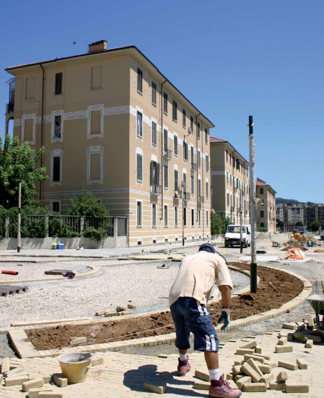 Picture 3 -   Refurbishment of   area and   residential buildings   in Arquata