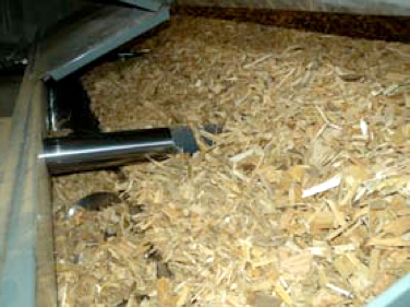 """Picture 6 - Wood chip  storage at """"Block A"""""""