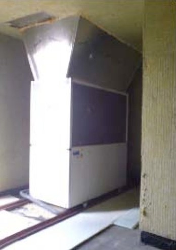 Picture 2 - The heat  pump at the  Valdesparata Apartment building