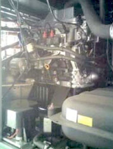 Picture 3 - The gas  engine inside the heat  pump