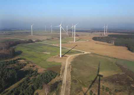 Picture 1 -  Aerial view of Golice windpark