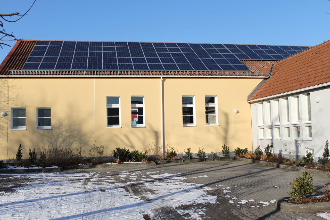 """Picture 7 –  The PV systems at the  """"Bürherhaus"""""""