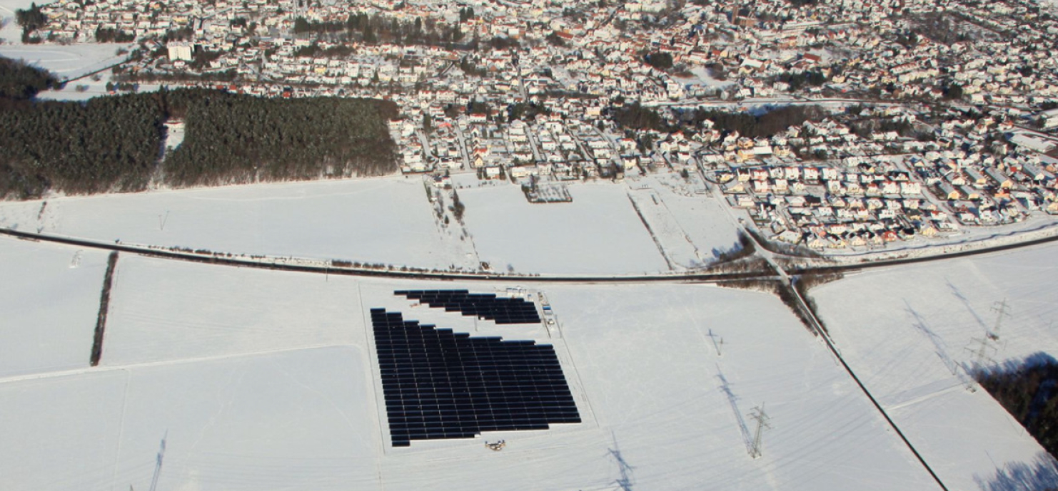 Picture 3 - Aerial view of  photovoltaic plant