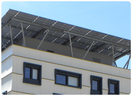 Picture 5 - The photovoltaic  system on the roof of the  building