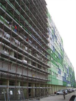 Picture 1 - Retrofit   in progress at one   building block