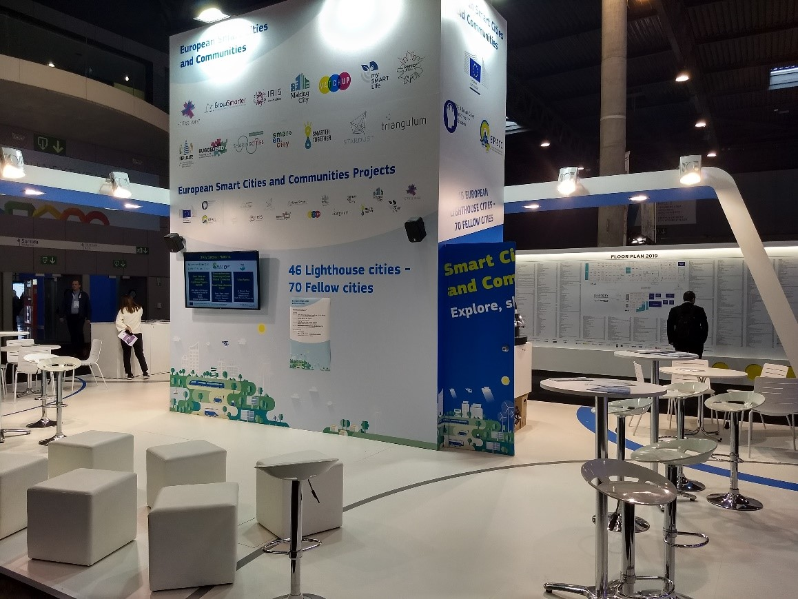 Joint European Smart Cities and Communities Projects Stand (Credits: Steinbeis-Europa-Zentrum)